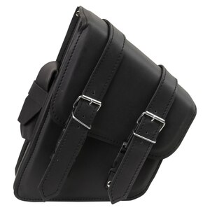 Vance SA403 Black Lone Motorcycle Swing Arm Saddlebag with Pocket