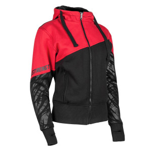 Speed And Strength Women's Cat Out'a Hell Armored Hoody - Red/Black