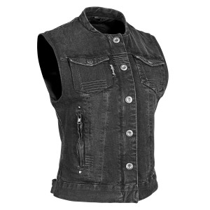Speed And Strength Women's Glory Daze Denim Vest - Black