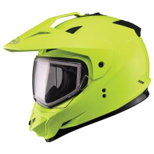GMax GM11S Hi-Visibility Yellow Snow Sport Helmet