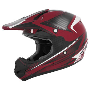 Cyber UX-23 Carbonite Helmet - Black/Red