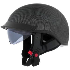 Cyber U-72 Carbon Fiber Half Helmet - Inner Sun Shield