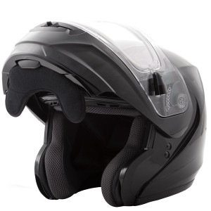 GMax MD04 Snow Modular Helmet With Electric Shield-Open View