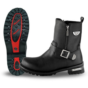 Mens Milwaukee Motorcycle Clothing Company MMCC Afterburner Motorbike Biker Riding Black Leather Boots