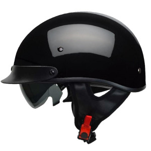 Vega Warrior Half Helmet - Black