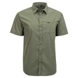 Fly Button Up Shirt-Green