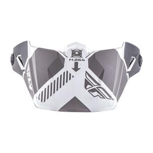Fly Kinetic Elite Onset Helmet Visor-White/Grey