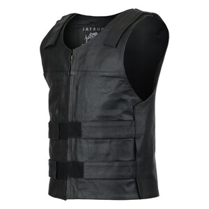 Jafrum MV101 Men's Bulletproof Style Biker Leather Motorcycle Vest
