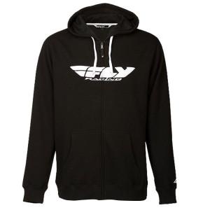 Fly Corporate Zip Up Hoody-Black