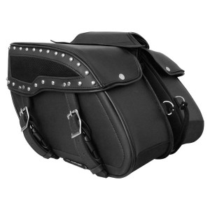 Perforated Design Motorcycle Saddlebags