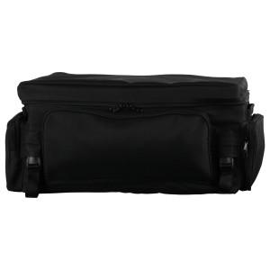 Vance SB518 Black Heavy Duty Six Pocket Motorcycle Luggage Touring Travel Sissy Bar Rack Bag