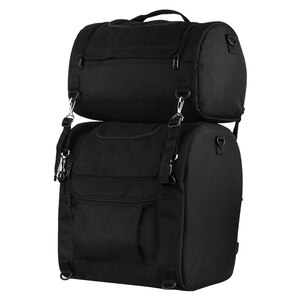 Vance SB510 Black Nylon Large Heavy Duty Motorcycle Sissy Bar Bag