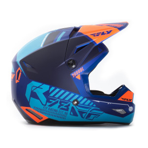 Fly Youth Kinetic Elite Onset Helmet-Blue-Side View