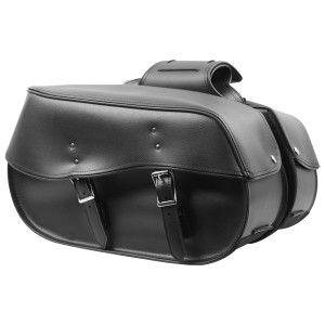 Zip-Off and Throw Over Motorcycle Saddlebags- SD4068Plain