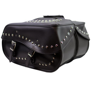 Zip-Off and Throw Over Motorcycle Saddlebags - VS209S
