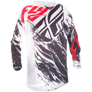 Fly Youth Kinetic Relapse Mesh Jersey-White/Red