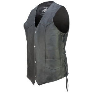 Concealed Carry Classic Biker Leather Vest