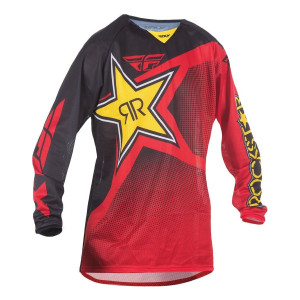 Fly Kinetic Rockstar Mesh Jersey-Red/Black