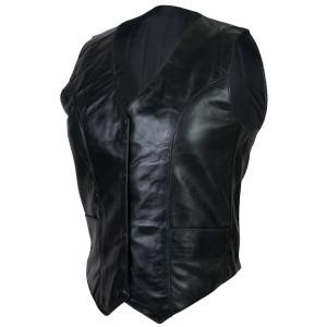 Women's Plain Motorcycle Leather Vest