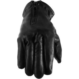 Vance GL2055 Mens Black Winter Biker Leather Motorcycle Riding Gloves