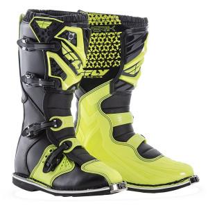 Fly Maverick MX boots - Hi-Viz