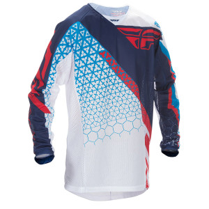 Fly Kinetic Trifecta Mesh Jersey-White/Blue