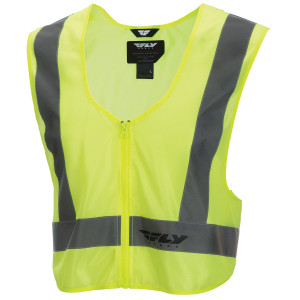 Fly High Visibility Yellow Safety Motorcycle Vest