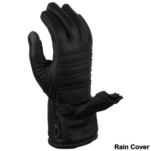 Leather Gloves with Rain Cover - Detail View
