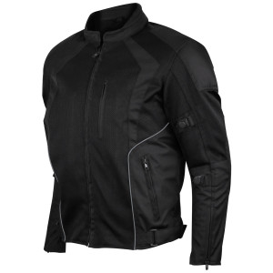 Advanced Vance VL1623B Mens All Weather Season CE Armor Mesh Motorcycle Jacket