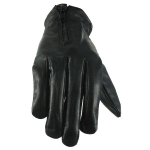 Vance GL2083 Womens Summer Black Cowhide Leather Motorcycle Gloves