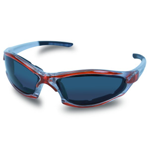 Mens SG108 Dark Smoke Biker Motorcycle Sunglasses Orange