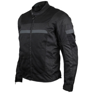 Advanced Vance VL1624B Mens All Weather Season CE Armor Mesh Motorcycle Jacket