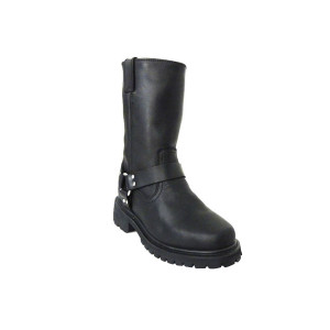 Men's MB1006BL Black Classic Leather Harness Boots