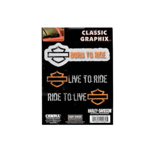 Harley Davidson Classic Graphix Decal - Harley 99060