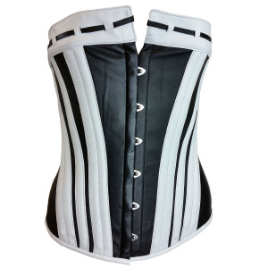 Black and White Leather Corset