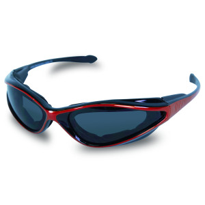 Mens SG105 Dark Smoke Biker Motorcycle Sunglasses Red
