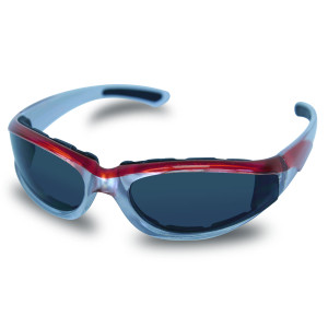 Mens SG109 Dark Smoke Biker Motorcycle Sunglasses Red