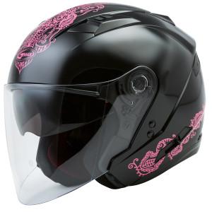 Gmax Women's OF77 Eternal Helmet - Black/Pink