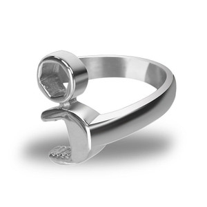 Stainless Steel Wrench Biker Ring