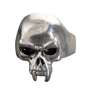 Stainless Steel Vampire Skull Biker Ring