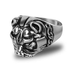 Stainless Steel Pit Bull Biker Ring