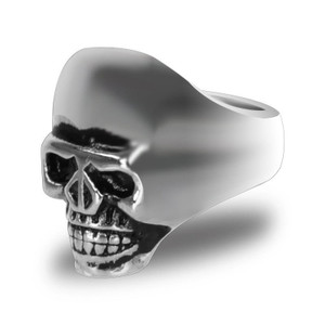 Stainless Steel Large Skull Biker Ring