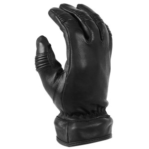 Vance VL471 Mens Black Convertible Zip Off Gauntlet Deerskin Leather Gloves