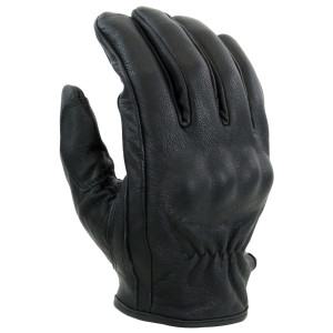 Vance VL473 Mens Black Leather Knuckle Armored Riding Gloves