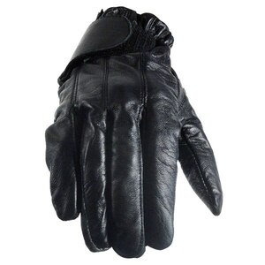 Vance GL2091 Mens Black Gel Palm Leather Driving Gloves