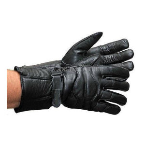 Vance VL400 Mens Black Insulated Winter Riding Leather Motorcycle Gauntlet Gloves