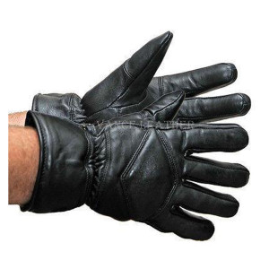 Vance VL431 Mens Black Biker Leather Gloves