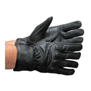 Vance VL423 Mens Black Padded Knuckle Insulated Leather Driving Gloves