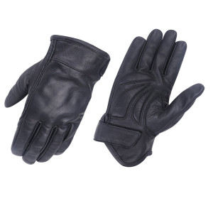 Vance VL475 Mens Black Gel Palm Riding Leather Gloves