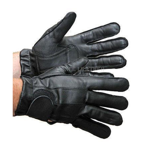 Vance VL408 Mens Black Leather Gel Palm Driving Gloves